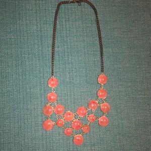 francesca's pink statement necklace